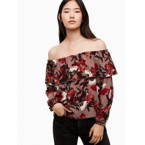 Wilfred Floral Morel Blouse | Size Sm